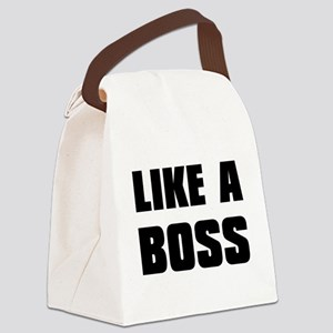 Like A Boss [bold] Canvas Lunch Bag